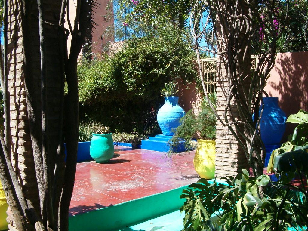 Superbe couleur au jardin majorelle des couleurs for Au jardin des couleurs