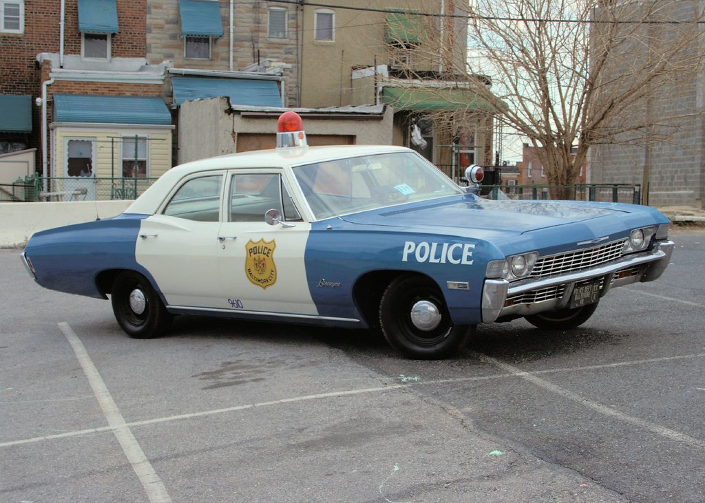 Vintage Police Car 67 Biscayne Seen At The Greek