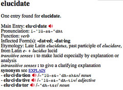 Definition: Elucidate | By Crimsonically Yours ...