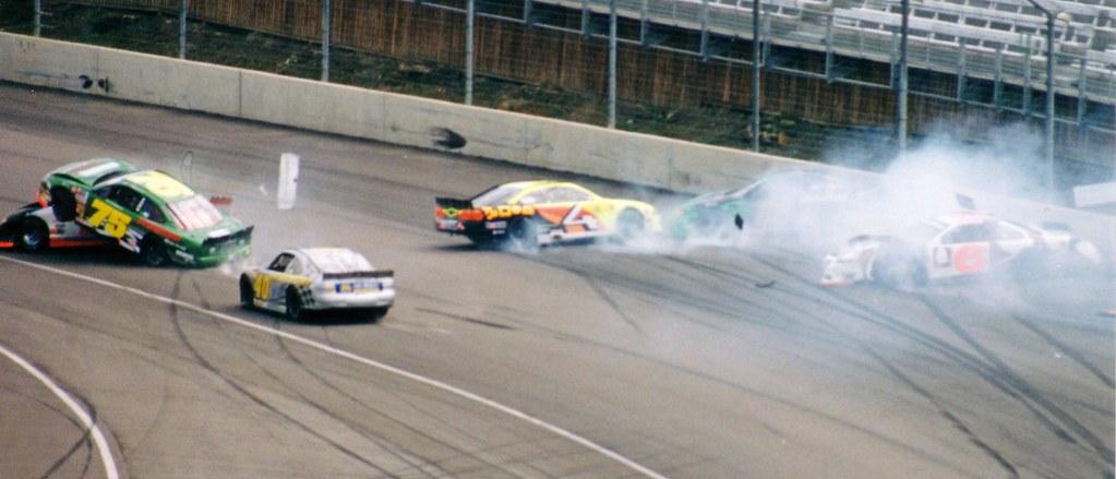 ASCAR Crash | Crash in an ASCAR race at Rockingham Motor Spe… | Flickr