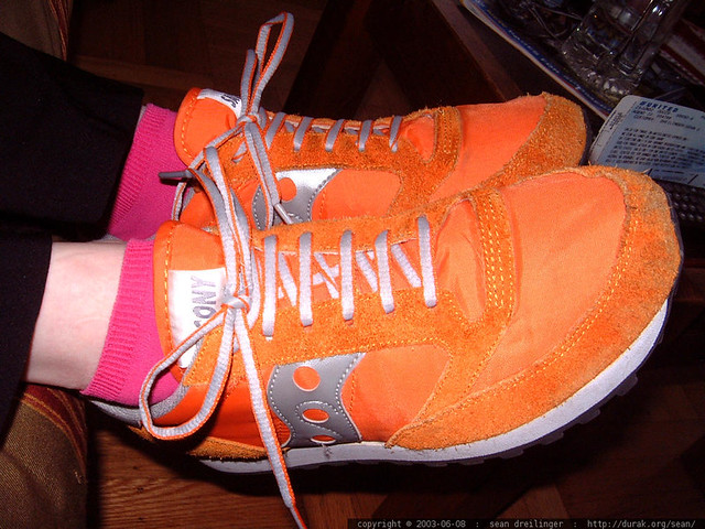 Orange Running Shoes Woments