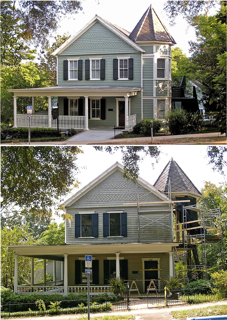 Focusing On Views With A Modern Addition To An Old House: Victorian House During And After Renovation