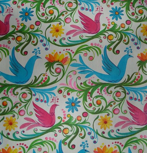vintage wrapping paper with birds | by blempgorf