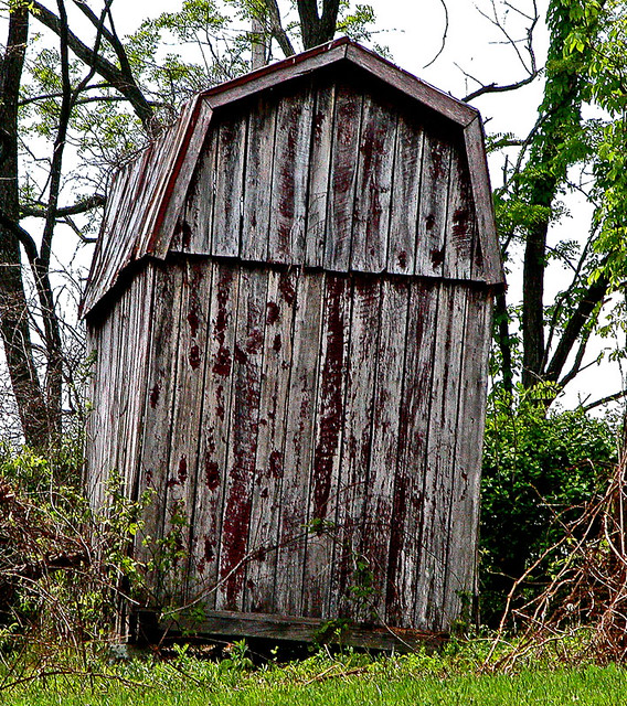leaning shed six months after my previous trip along a pik flickr