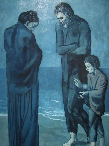 Picasso Blue Painting Family