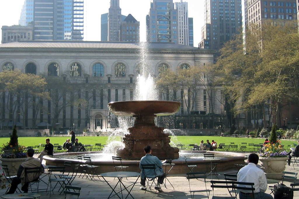 Nyc Midtown Bryant Park And New York Public Li Ry By Wallyg