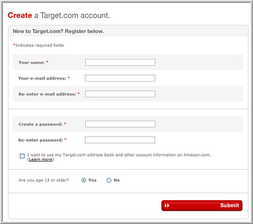 clean and simple registration form this form uses left jus flickr
