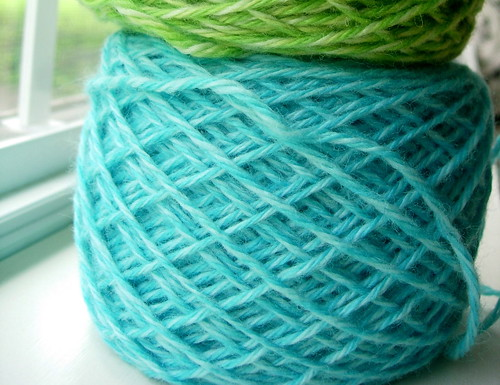 blue yarn | by wise craft, handmade by Blair Stocker