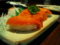 Salmon Sashimi and Sushi Platter | by alpha_betical