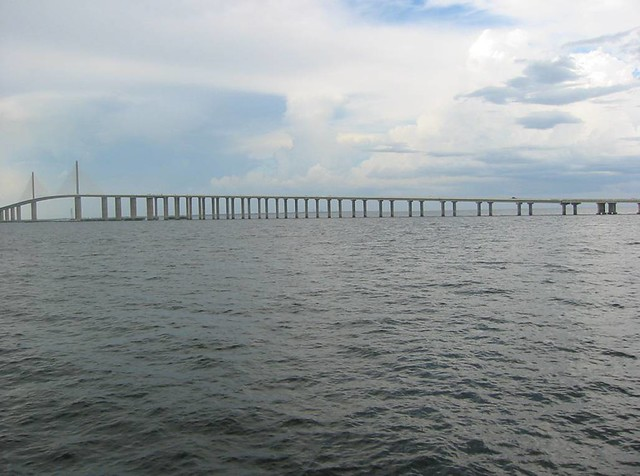 Sunshine skyway from fishing pier st petersburg florida for Skyway fishing pier fishing report