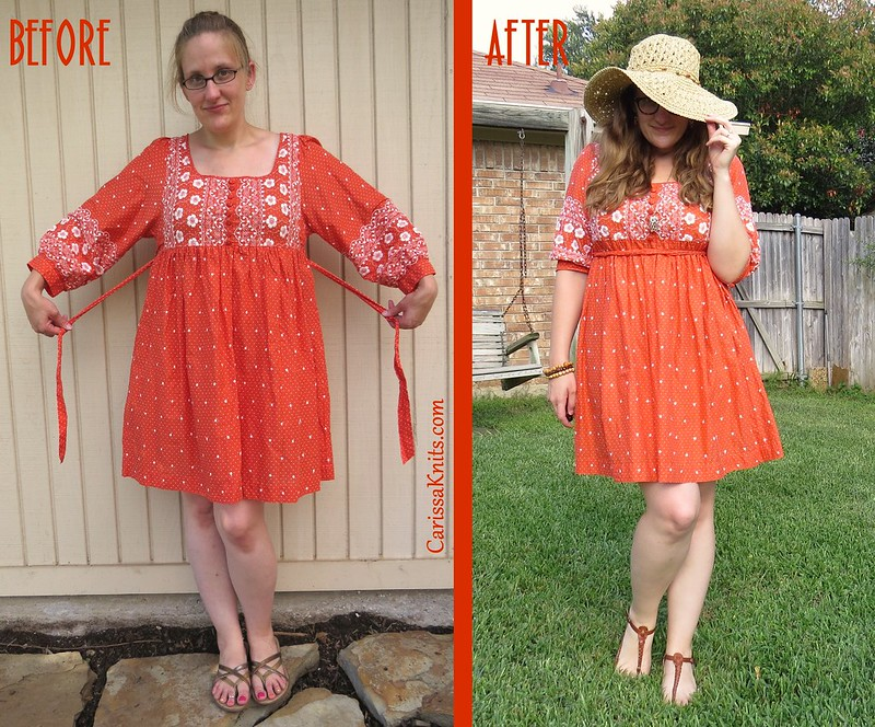 Flower Child Dress - Before & After