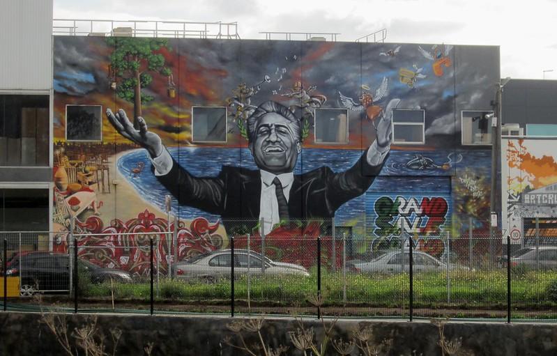Franco Cozzo mural, Footscray, June 2015