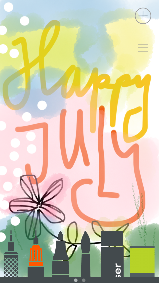 Happy JULY wishes to you from I, Hanna and more iphone doodles at www.ihanna.nu #phonecreativity