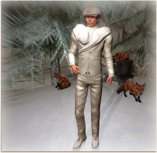 ALB NEW YEARs EVE suit 2016 & shoes & fur & cap by AnaLee Balut