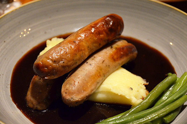 Bangers and mash, York, Britain
