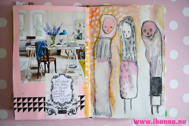 Art Journal: Studio and 3 friends