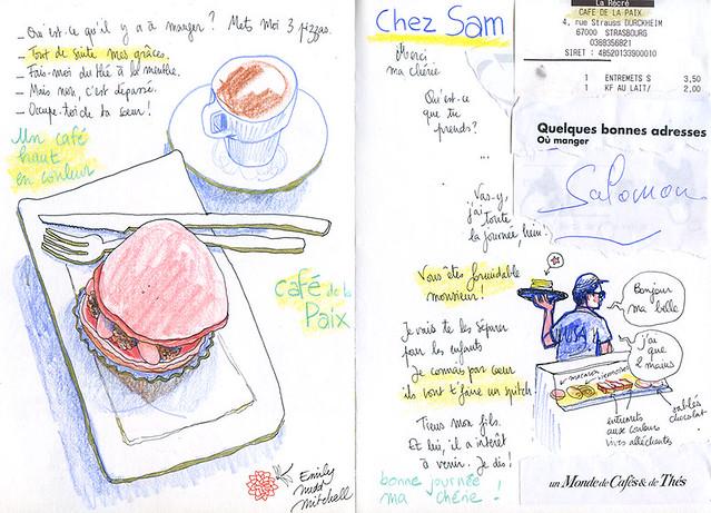 """Strasbourg - Au Café de la Paix """"Chez Sam"""""""