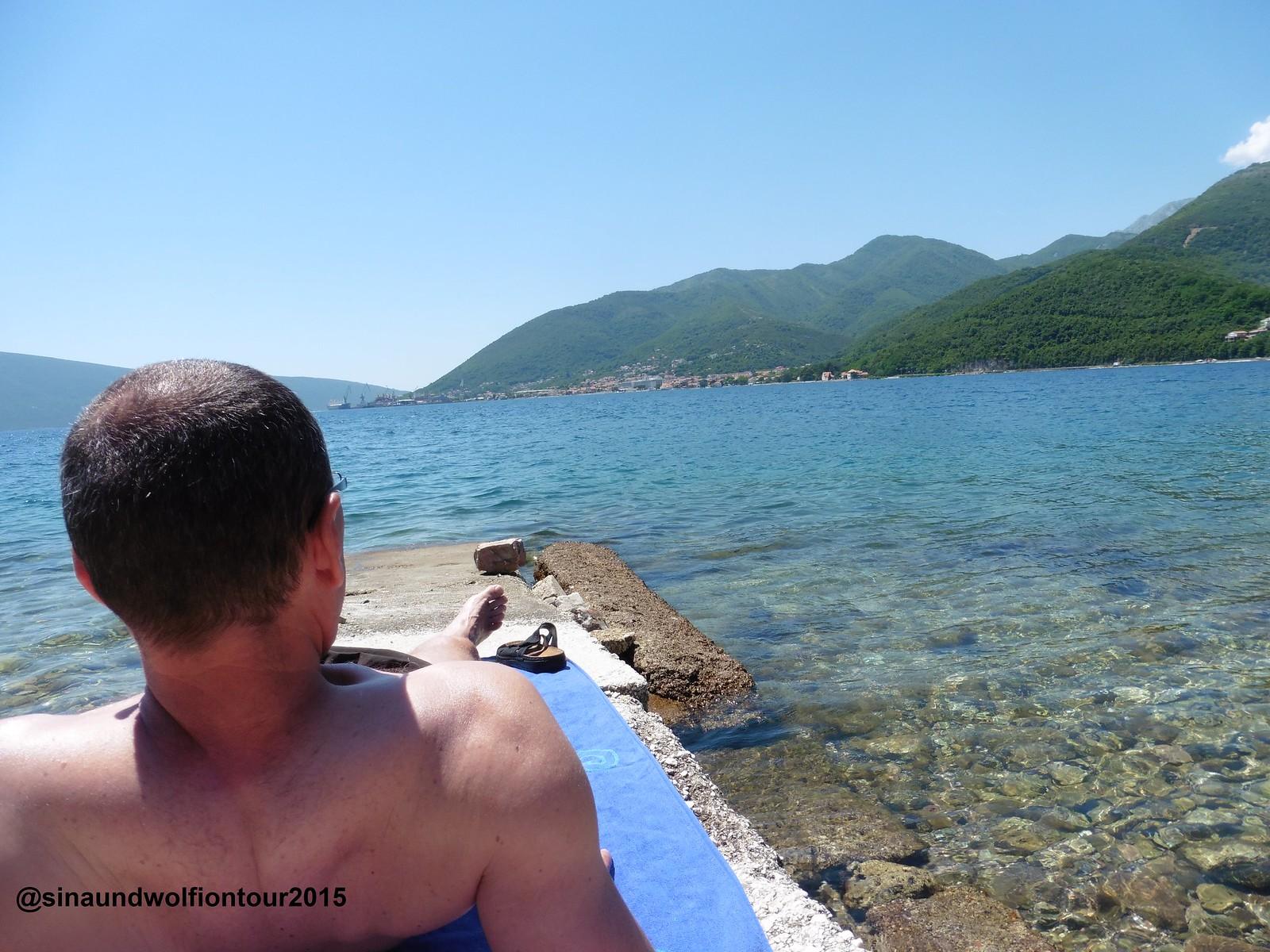 Bucht von Kotor, bissal baden