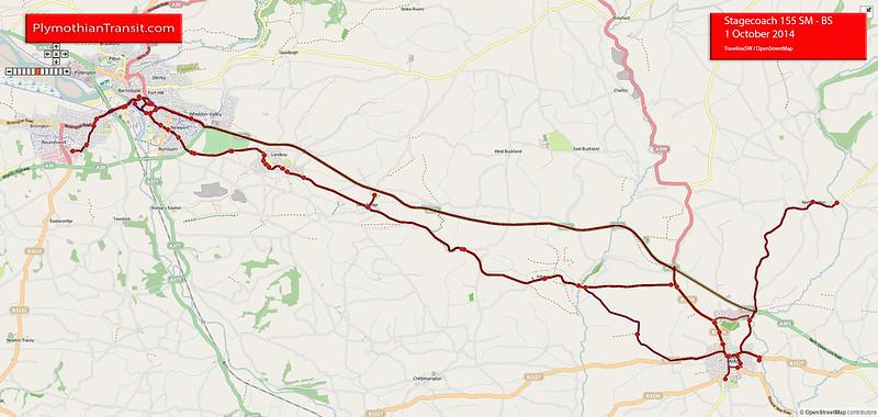 155 Exeter - Tiverton - South Molton - Barnstaple