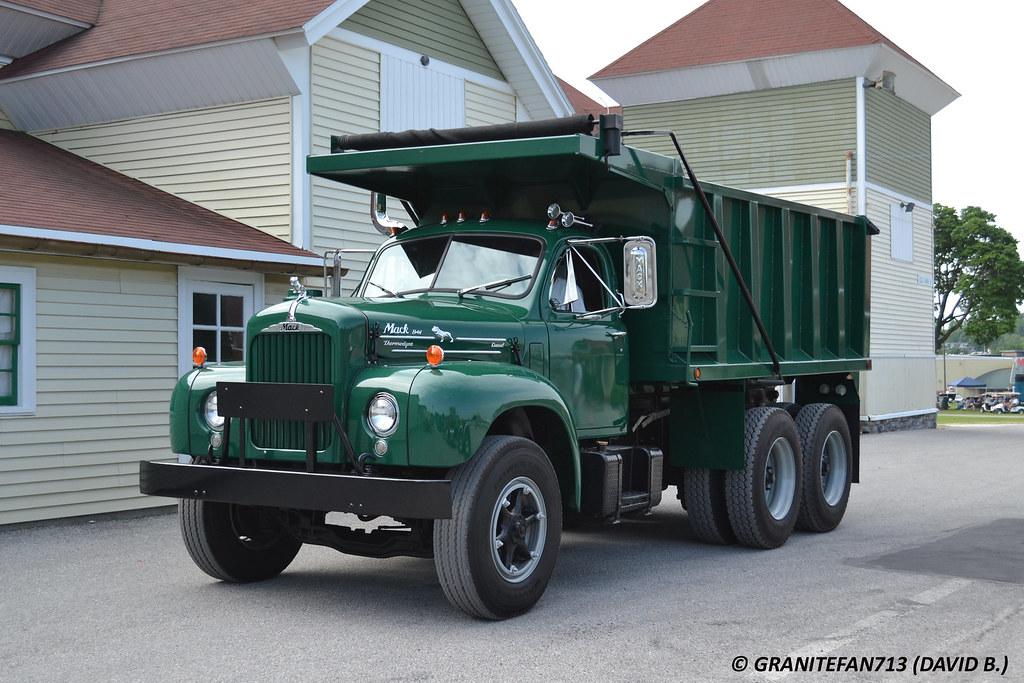 B 61 Mack Trucks : Mack b tandem dump trucks buses trains by
