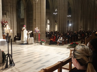 Archbishop Peter delivers the homily