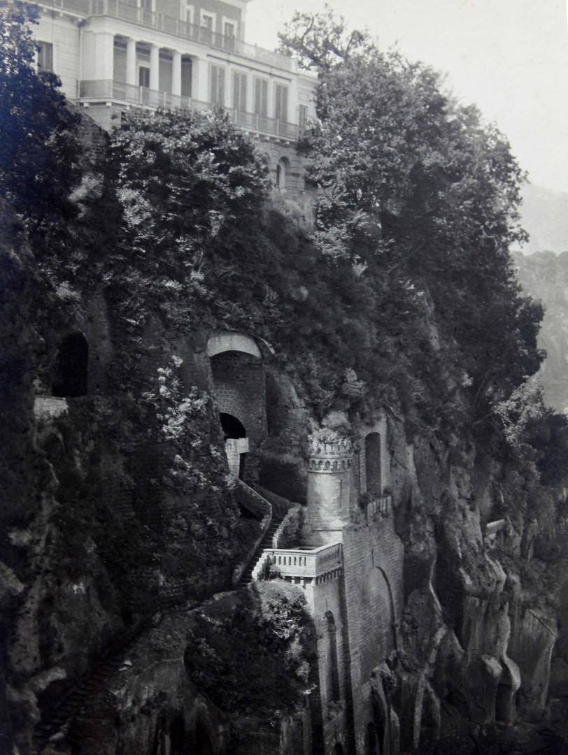 """The Cliffs of Sorrento"", an original pictorialist photograph by Karl Struss (1886-1981)"