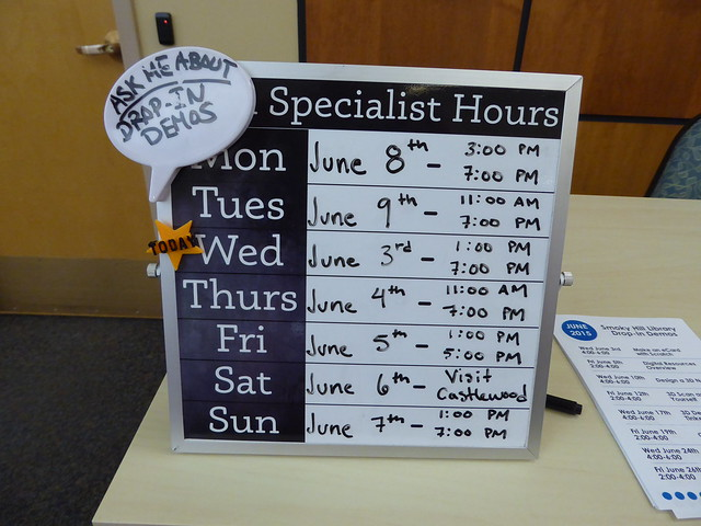 tech specialist hours - Smoky Hill Library