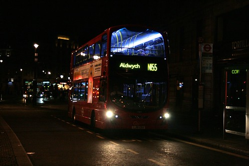 London General WVL441 on Route N155, Charing Cross
