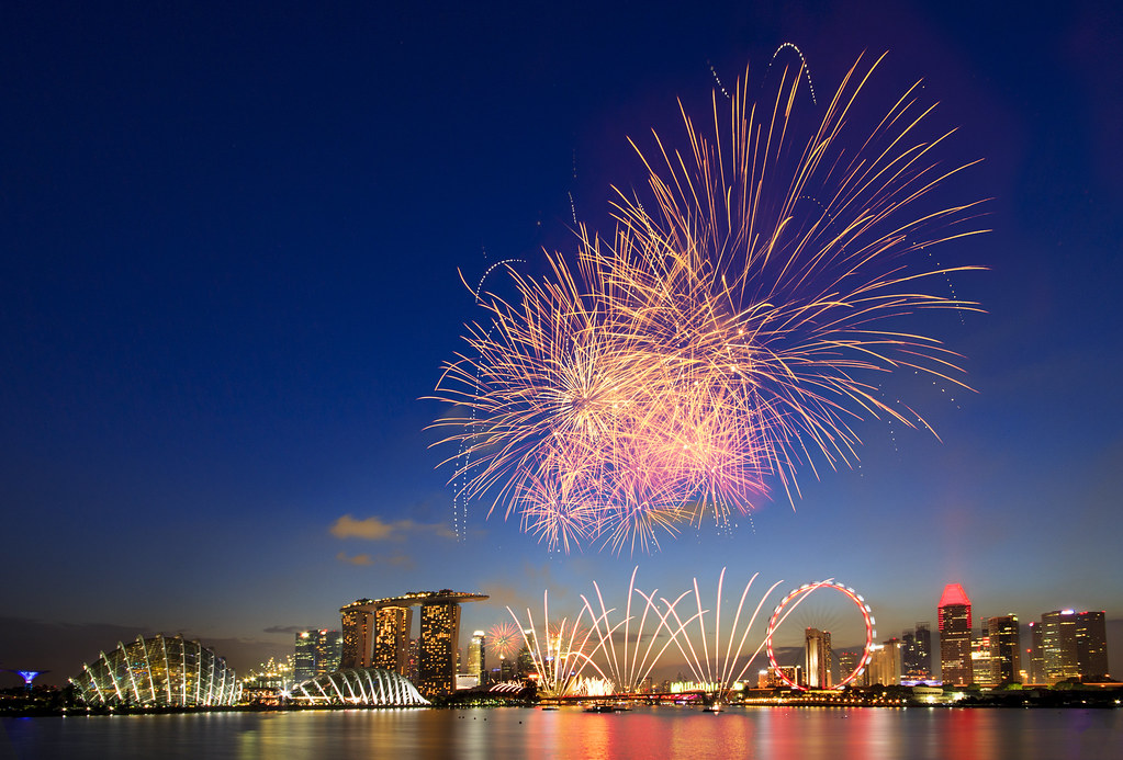 ndp 2015 fireworks from gardens by the bay east by gkw12345