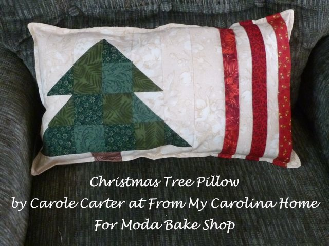 Christmas Tree Pillow ~ A new recipe at Moda Bake Shop