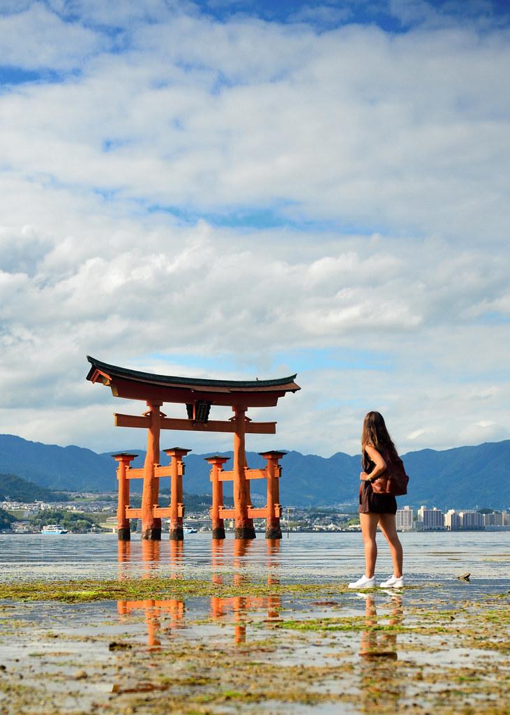 Tori de Miyajima junto a Hiroshima