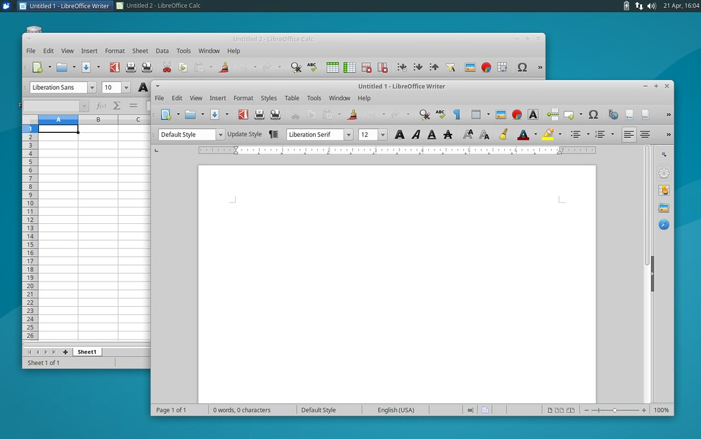 LibreOffice в Xubuntu
