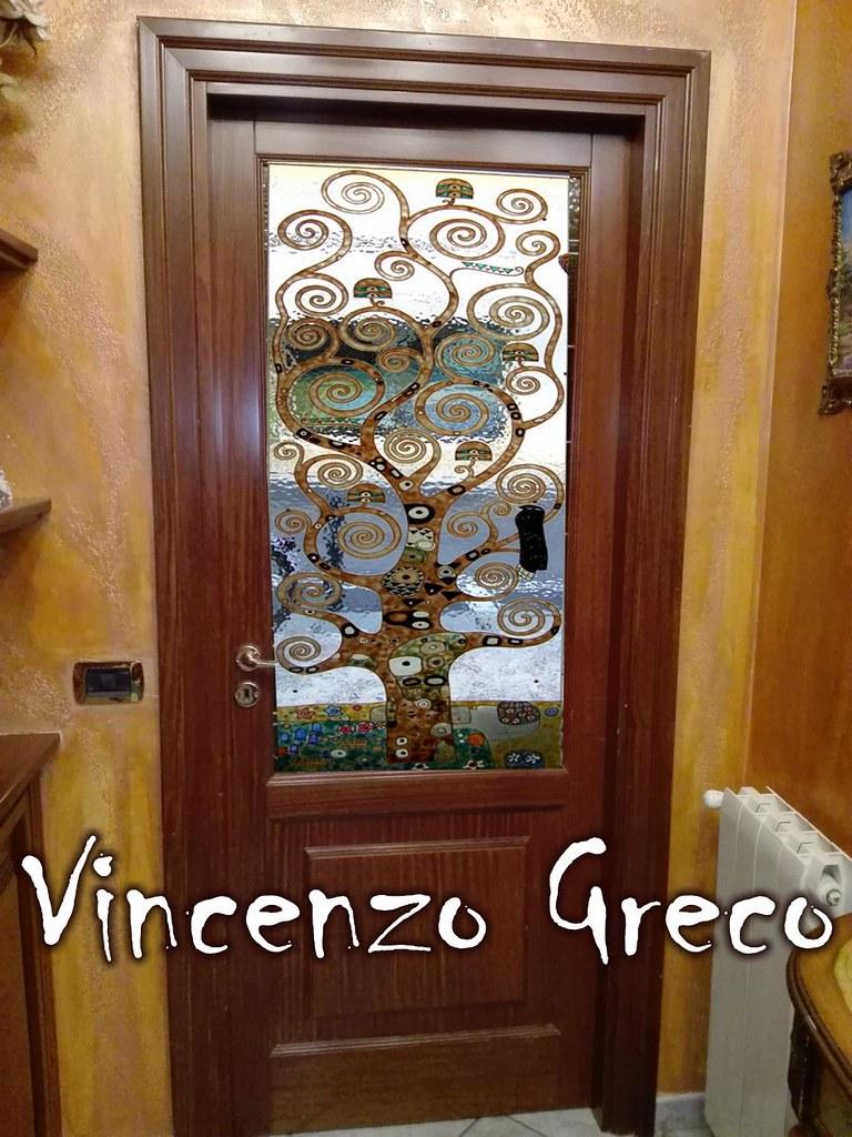 Porte vetrate artistiche di vincenzo greco 1 www for Vetrate artistiche per porte interne