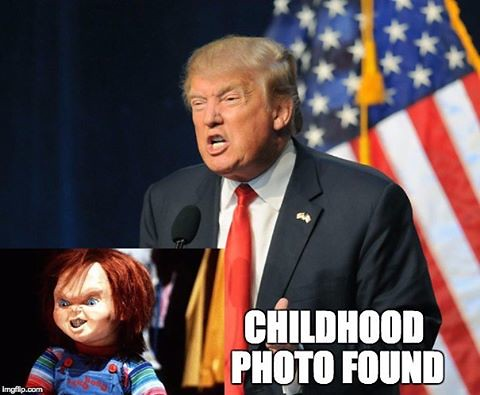 I just had to make this. #donaldtrump #chucky #childhood ...