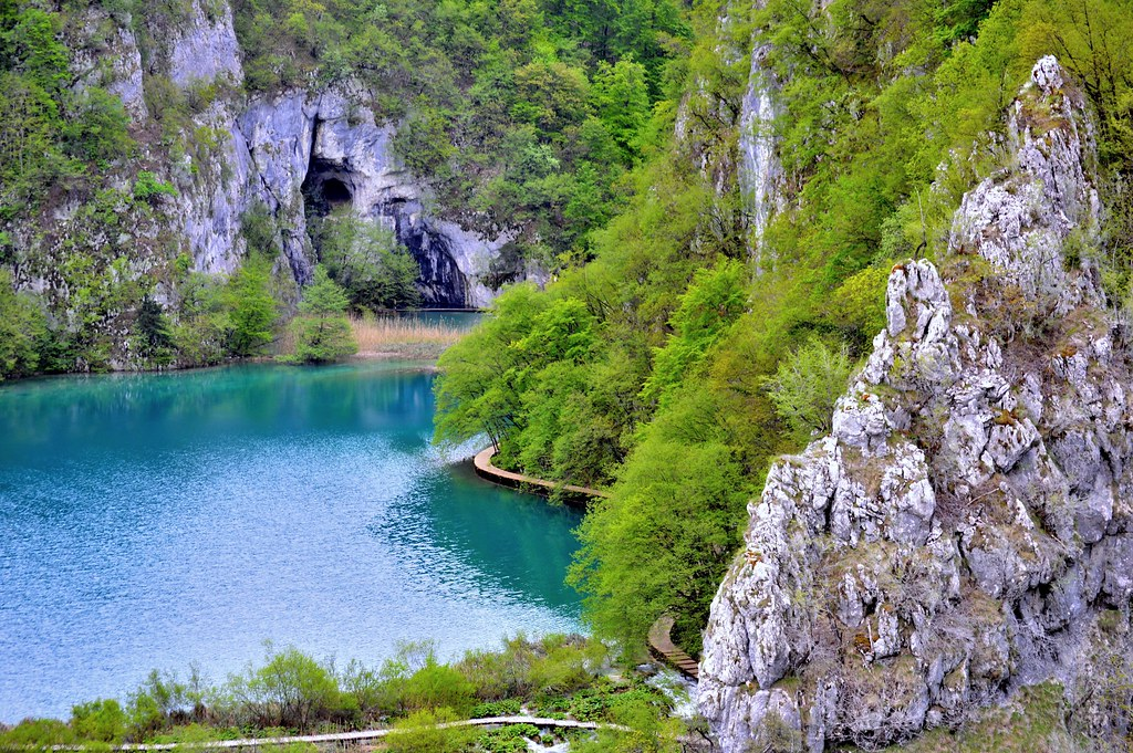 A cave at the Plitvice Lakes National Park.