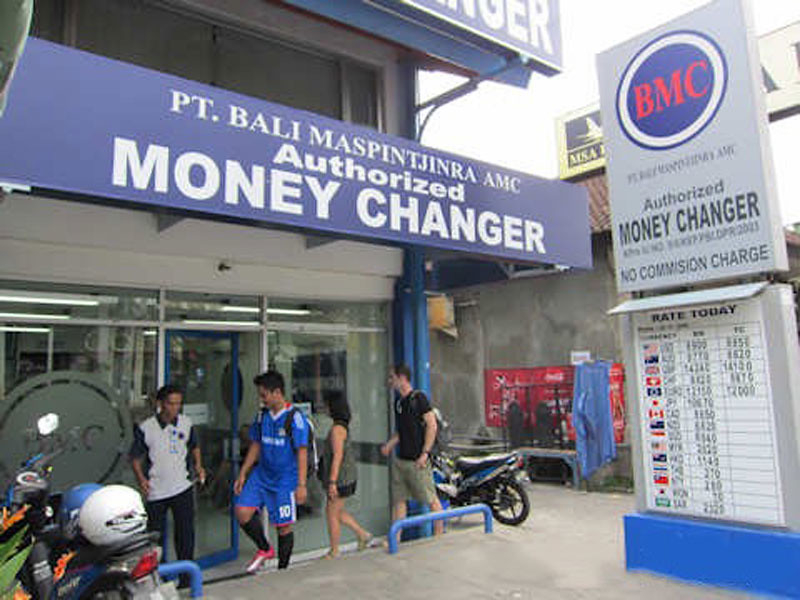 Money Exchange on Bali