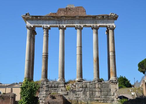 Temple Of Saturn Roman Forum Rome Carole Raddato Flickr