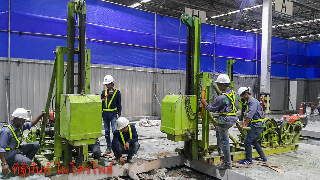 งานตอกเสาเข็มไมโครไพล์ ต่อเติมอาคารโรงงาน Daikin Industries (Thailand) Ltd.