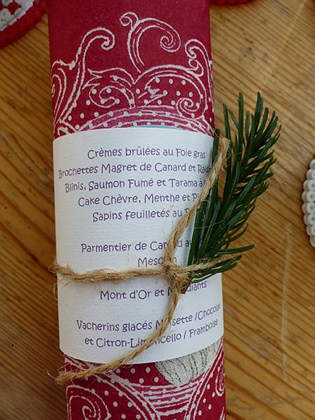 menu Noël CRL