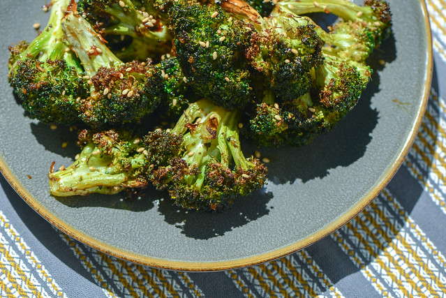 Grilled Hoisin Broccoli