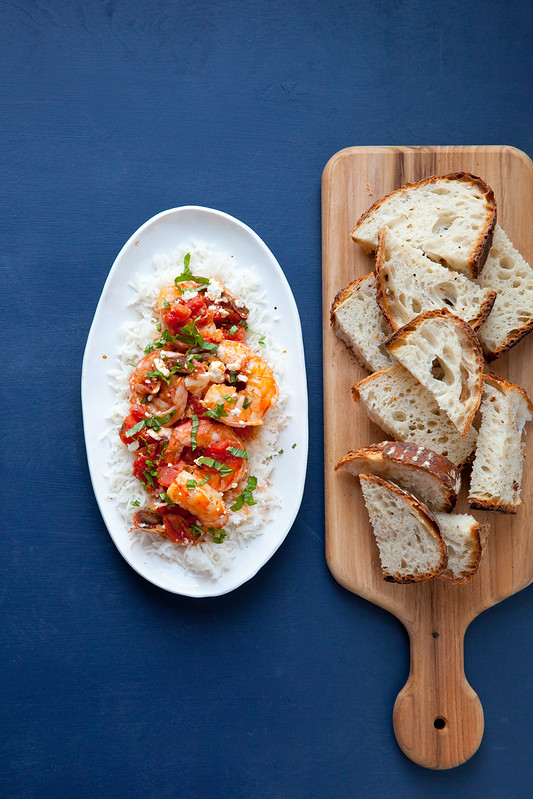 Greek-Style Shrimp with Tomatoes and Feta - Everyday Annie