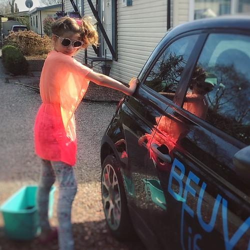 gezelligheid Auto wassen 🚘 #carwash...