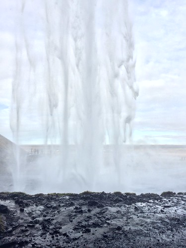 Behind a waterfall in Iceland