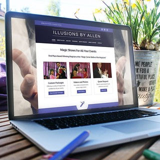 Recently completed a new website for IllusionsByAllen.com.  We are excited to announce the new website for Illusions By Allen - long time client. 👍👍  #webdesign #websitedesign #wordpress #graphicdesign #socialmediabranding #socialmedia # | by caspianservices