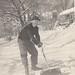 CKDenny shovels snow:  Bob O'Neal photo