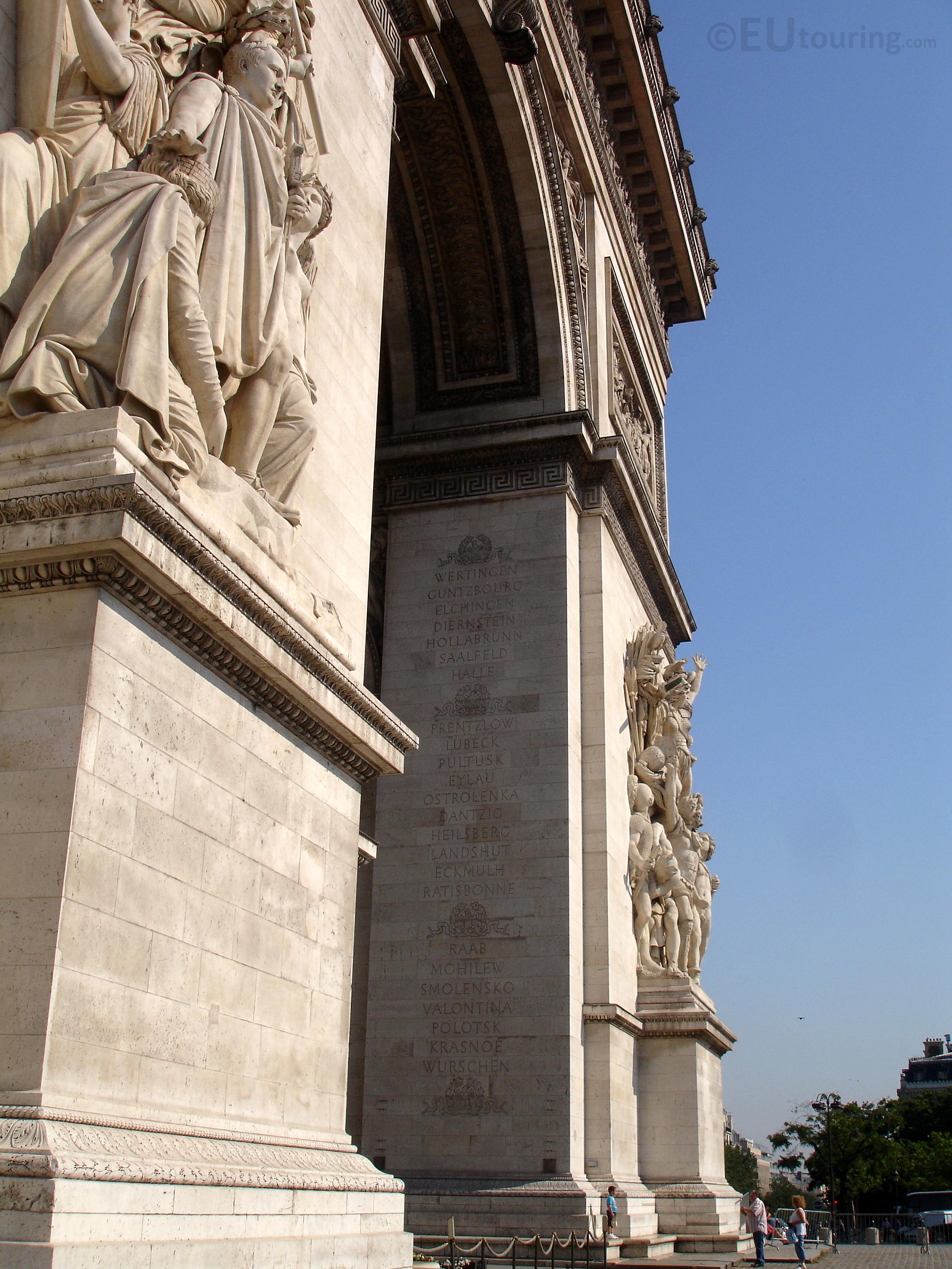 Two legs of Arc de Triomphe