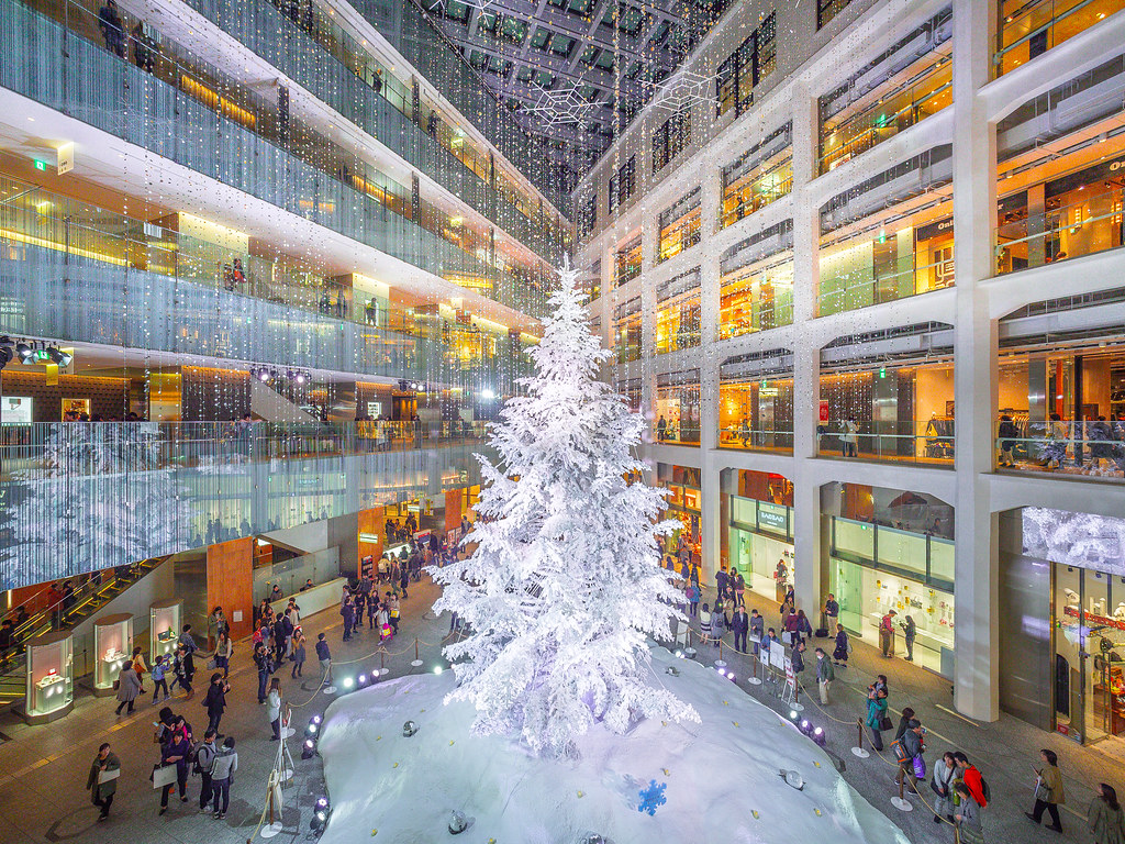 Christmas Time! | Kitte shopping mall right next to Tokyo ...