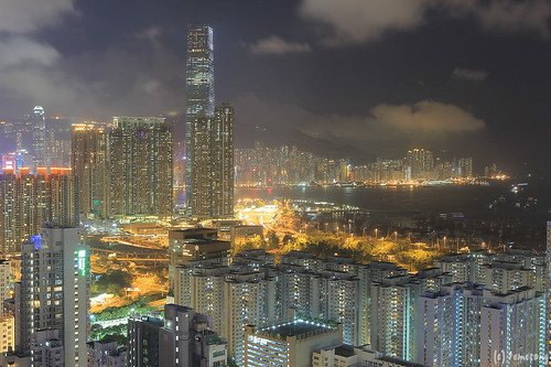Hotel Cordis Hong Kong at Night