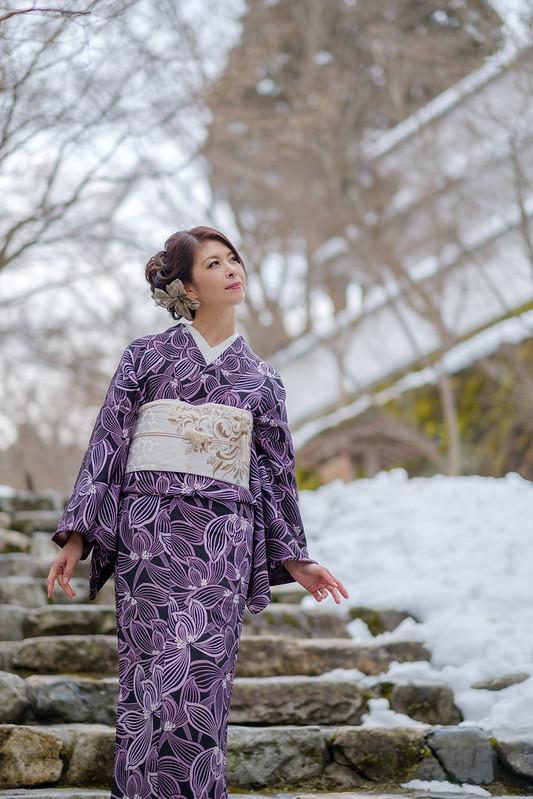 In Kyoto where snow remains  (Cocoro Kusano)