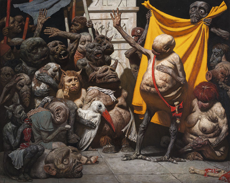 Geli Korzhev - Mutants (a sketch), 1973